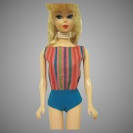 Vintage Barbie Striped Swimsuit Only #1070