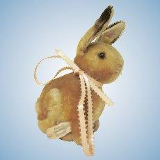 "HOLD Vintage 1940s/1950s Steiff Sitting Rabbit Plush Stuffed Toy 6-1/2"" tall"