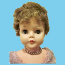 """Vintage Deluxe Reading Sweet Rosemary 30"""" Tall Plastic Doll in Original Clothes"""