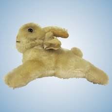 "Vintage Wool Steiff Lying Bunny Rabbit 4-3/8"" long"