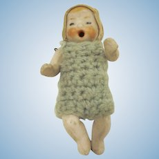 All Bisque Jointed Made in Germany Baby Doll with It's Mouth Wide Open