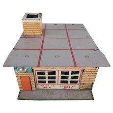 Wyandotte Toytown Fire Department Tin Litho Toy Building