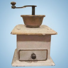 Tin Penny Toy Coffee Grinder Dollhouse Accessory
