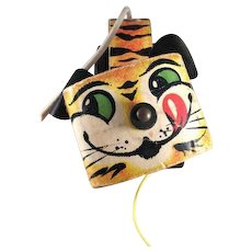 Fisher Price #654 1961 Tawny Tiger Pull Toy