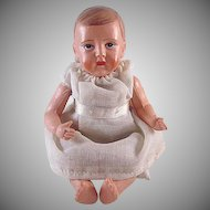 """Viscoloid Jointed Celluloid Baby Doll 5"""" tall Marked"""
