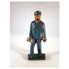 Grey Iron Postman Cast Iron Toy Figure