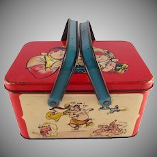 Tin Litho Joe Palooka Lunch Pail 1948