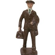 Lincoln Logs Cast Metal Traveling Man Figure, Toy