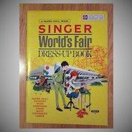 New York 1964 World's Fair Singer Paper Doll's Uncut