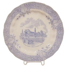 Wedgwood 1893 Chicago World's Fair Columbian Exposition Electrical Building Plate