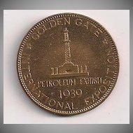 1939 San Francisco Golden Gate Exposition Petroleum Coin