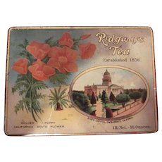 California Pan Pacific International Exposition 1915 World's Fair Ridgways Tea Tin