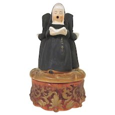 Vintage 3 Nuns Singing A Price Import Japan Bisque Music Box Plays Dominique 1950s Works