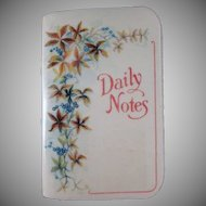 Celluloid 'Daily Notes' Pocket Book 1927