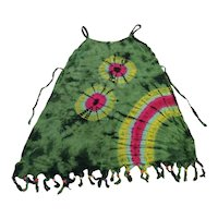 Vintage Beaded Tie Dye Dress Sz XSmall Made in Thailand Free Shipping