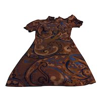 Vintage Psychedelic Swirling Dress Sz Small Mint Condition Free Shipping
