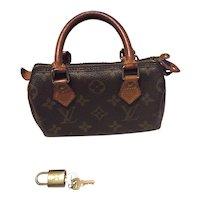 Vintage Louis Vuitton Speedy Mini Bag w/Lock & Key Free Shipping