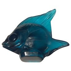 Lalique Turquoise Fish Mint Condition Free Shipping