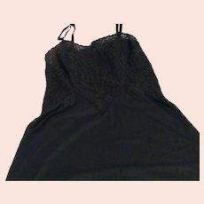 Vintage Gossard Black Lace Midi Slip Mint Condition Free Shipping
