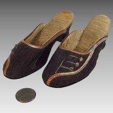 Vintage Miniature Silk High Heel Shoes