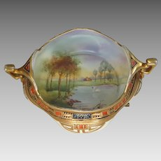 Nippon Moriage Porcelain Scenic Bowl