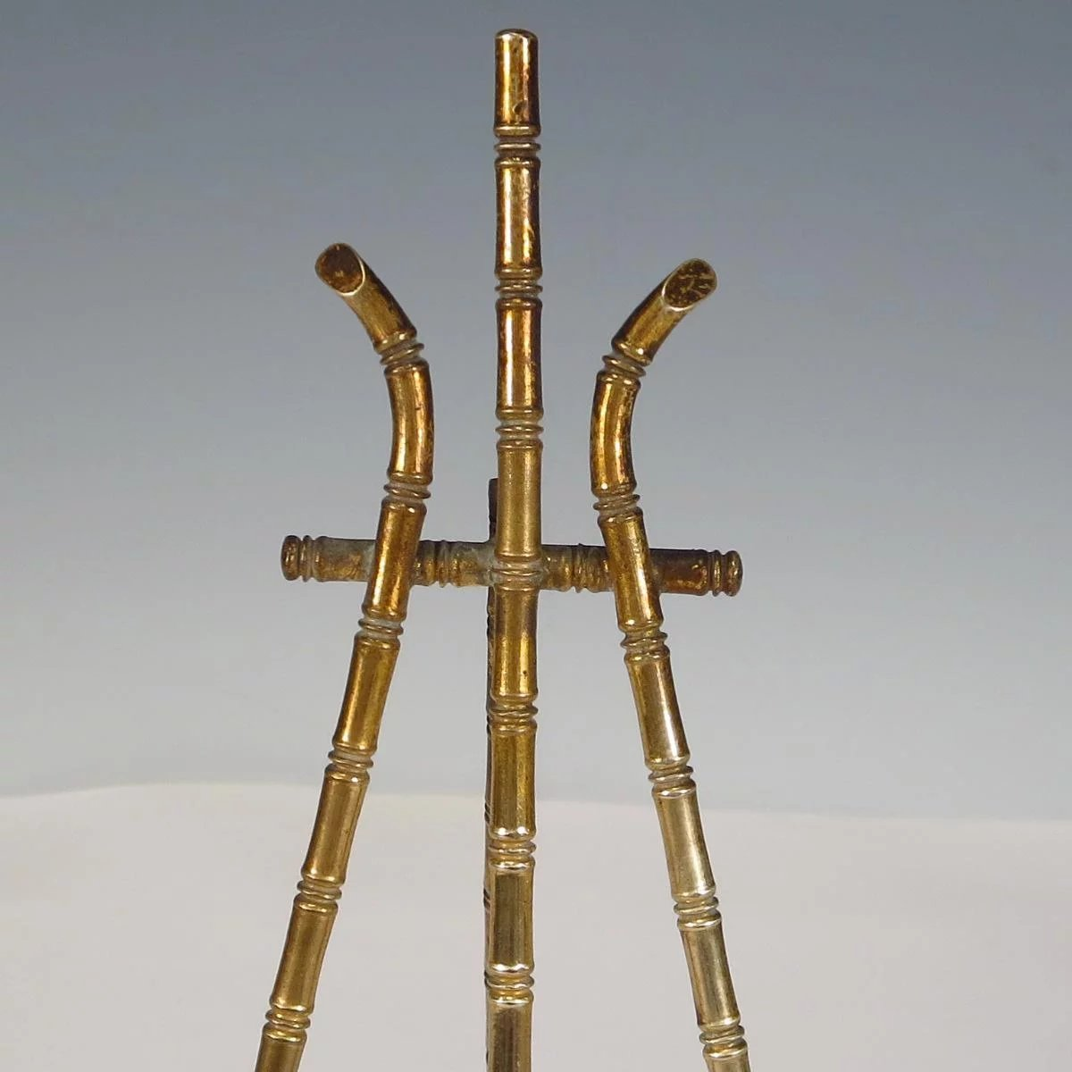 Miniature Doll House Brass Faux Bamboo Easel : Larie Allen