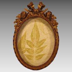 Antique Italian Gold Gilt Carved Miniature Frame