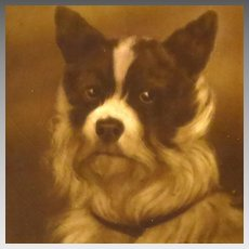 Antique English Dog Portrait Tile