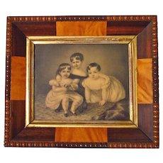 19th Century English Drawing Three Children Provenance Maitland Wilson Family