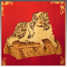 Large 19th Century Needlework Cavalier King Charles Spaniel 'Dash'