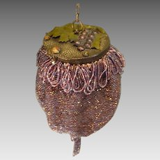 1920's Beaded Flapper Dance Purse with Mirror