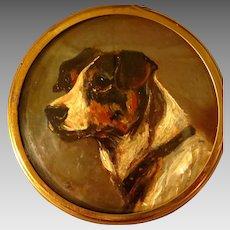 Miniature Oil Portrait Terrier