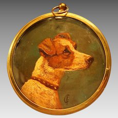 Miniature Oil Portrait Jack Russell Terrier