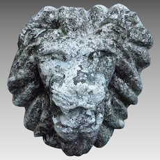 Lion Head Garden Ornament