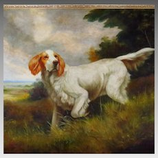 Hunting Dog Portrait Signed Jim Huff