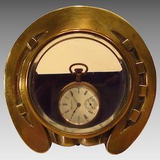Brass Horseshoe Watch Holder