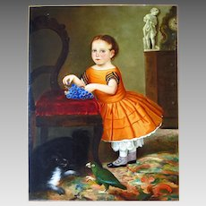 Life Size American School Portrait Young Girl Museum Deaccession