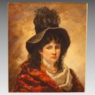 Cornelia Adele Strong Fassett Watercolor Portrait Beautiful Woman of Society