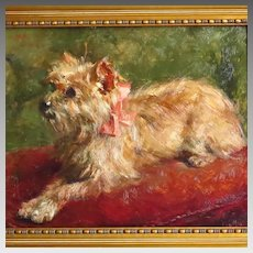 "Yorkshire Terrier Oil Portrait by Leo Van Aken ""Poor May"""