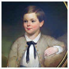 Mid 1800's Oil Portrait Young Boy English School