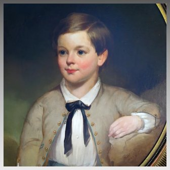 Mid 1800's Oil Portrait Young Boy English School