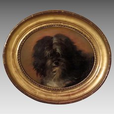 Portrait of a Terrier by Adele de la Porte French