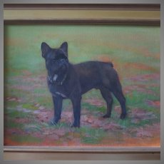 French Bulldog Portrait Painting by Susan Dorazio