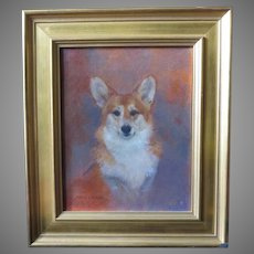 Welsh Corgi Dog Portrait Painting by Susan Dorazio
