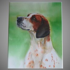 Hunting Dog Portrait by Susan Dorazio