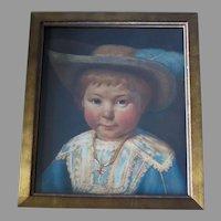 19th Century Dutch Portrait Young Boy Dressed in Aristocratic Attire