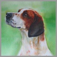 Watercolor Dog Portrait Hunting Dog by Susan Dorazio