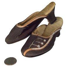 Vintage Miniature Silk High Heel Shoes Salesman Sample
