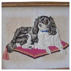 Victorian Needlework Cavalier King Charles Spaniel Dash