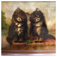 Two Kittens Oil Painting by Adrienne Lester
